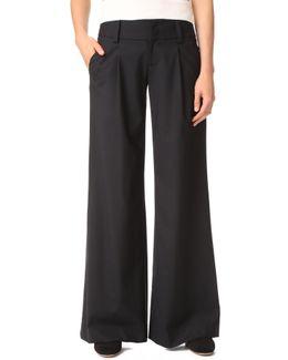 Eric Front Pleat Wide Leg Pants