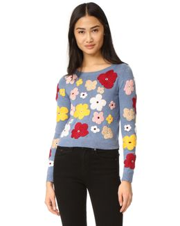 Lucca Graphic Floral Sweater