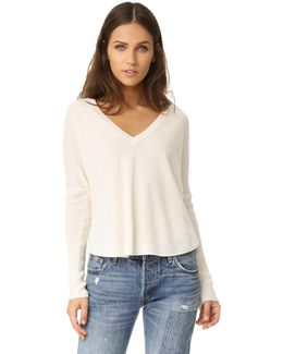 Bobbie Long Sleeve V Neck Sweater