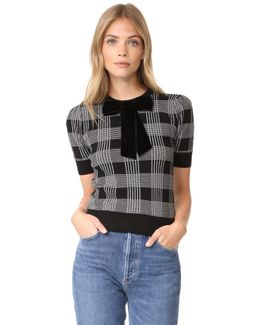 Brady Plaid Short Sleeve Sweater