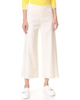 Cropped Pants With Patch Pockets