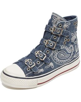 Val Buckle High Top Sneakers