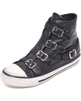 Virgin Buckled High Top Sneakers
