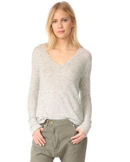 Cashmere Donegal V Neck Sweater