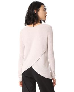 Reversible Crossover Cashmere Sweater