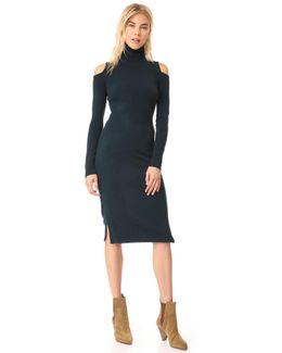 Cold Shoulder Turtleneck Dress