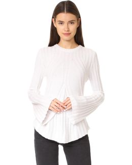 Ribbed Flare With Bell Sleeves