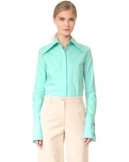 Oversize Collar And Cuff Shirt