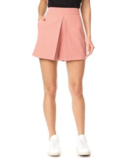 Cropped Shorts With Fold Front Detail