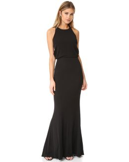 Drape Back Jersey Gown