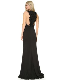 Ruffle Back Gown