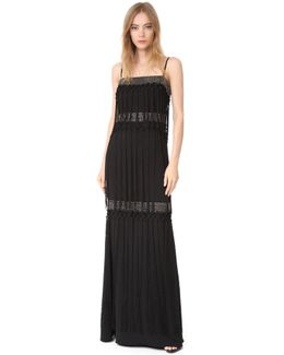 Fringe Tiered Gown