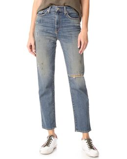 Lola High Rise Straight Jeans
