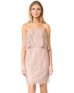 R.s.v.p By Sakura Strapless Lace Dress