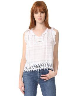 Carrieann Novelty Lace Trim Top