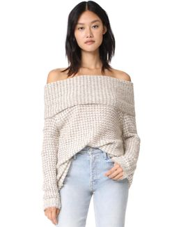 Tegan Off Shoulder Tunic Sweater