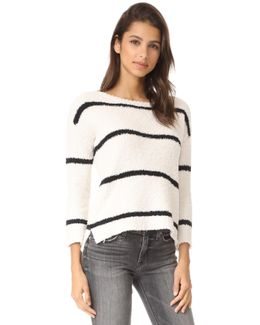 Karin Striped Chenille Sweater