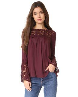 Zanna Lace Long Sleeve Top