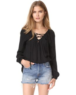 Jack By Boothe Lace Up Top