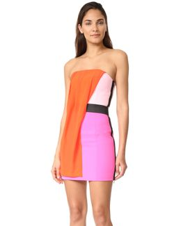 Strapless Multicolor Dress