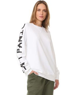 Don't Panic Long Sleeve Sweatshirt