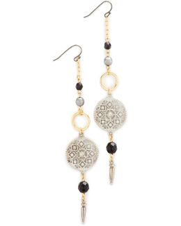 Circle Drop Fishook Earrings