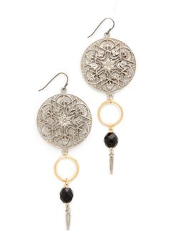 Round Top Drop Single Fishook Earrings