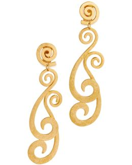 Swirly Clip On Earrings