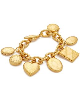Gold Chain Locket Pendant Bracelt