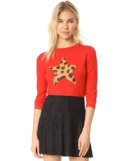 Iggy Leopard Star Sweater