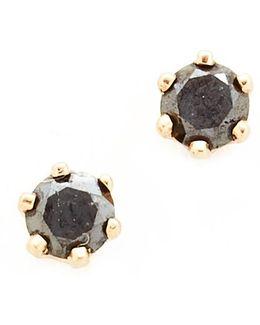 Little Black Diamond Stud Earrings
