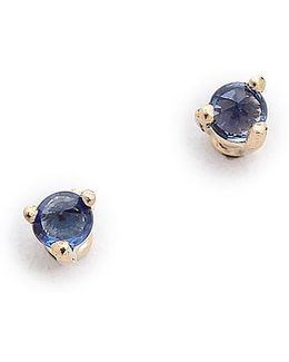 Tiny Sapphire Stud Earrings