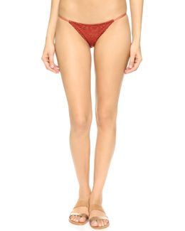 Embroidered Skimpy Bikini Bottoms