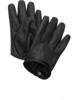Short Leather Gloves
