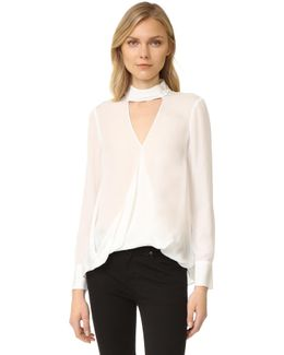 Long Sleeve Blouse With Collar Detail