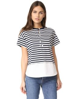 Henley Tee With Shirting