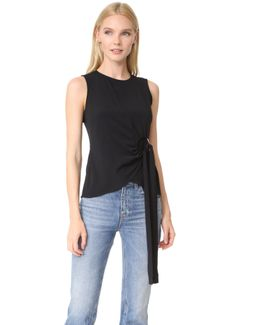 Sleeveless Top With Ring Detail