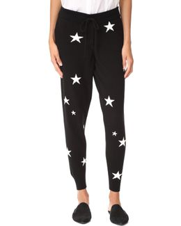 Star Cashmere Track Pants