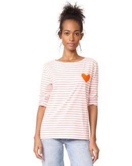 Stripe Heart Tee