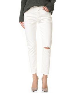 Liya High Rise Classic Fit Crop Jeans