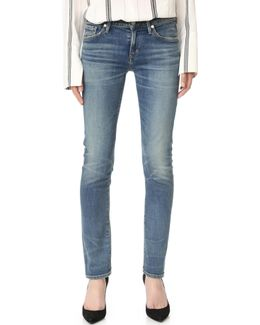 Arielle Mid Rise Slim Jeans