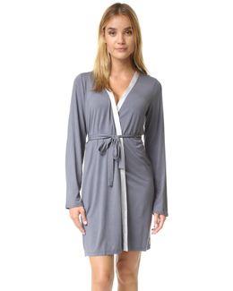 Essentials With Satin Short Robe