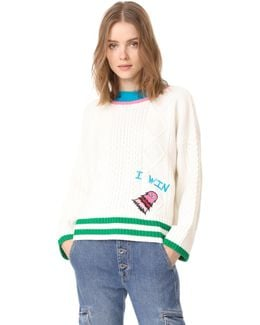 Monster Embroidered Sweater