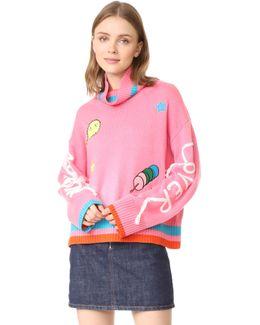 Marshamllow Lover Pink Sweater