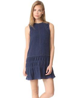 Crinkle Texture Mini Dress