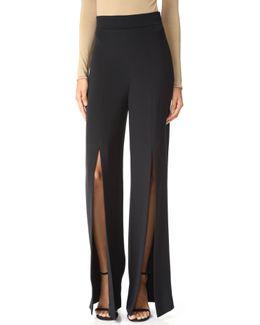 High Waisted Pants With Slits