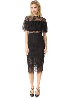 Geo Lace Midi Dress