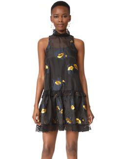 Metallic Floral Night Dress