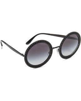 Round Crystal Sunglasses