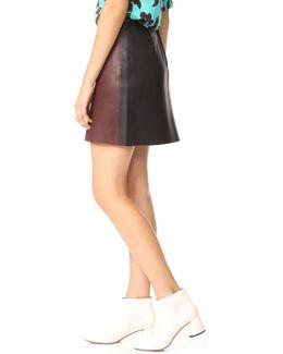 Jenny Leather Miniskirt